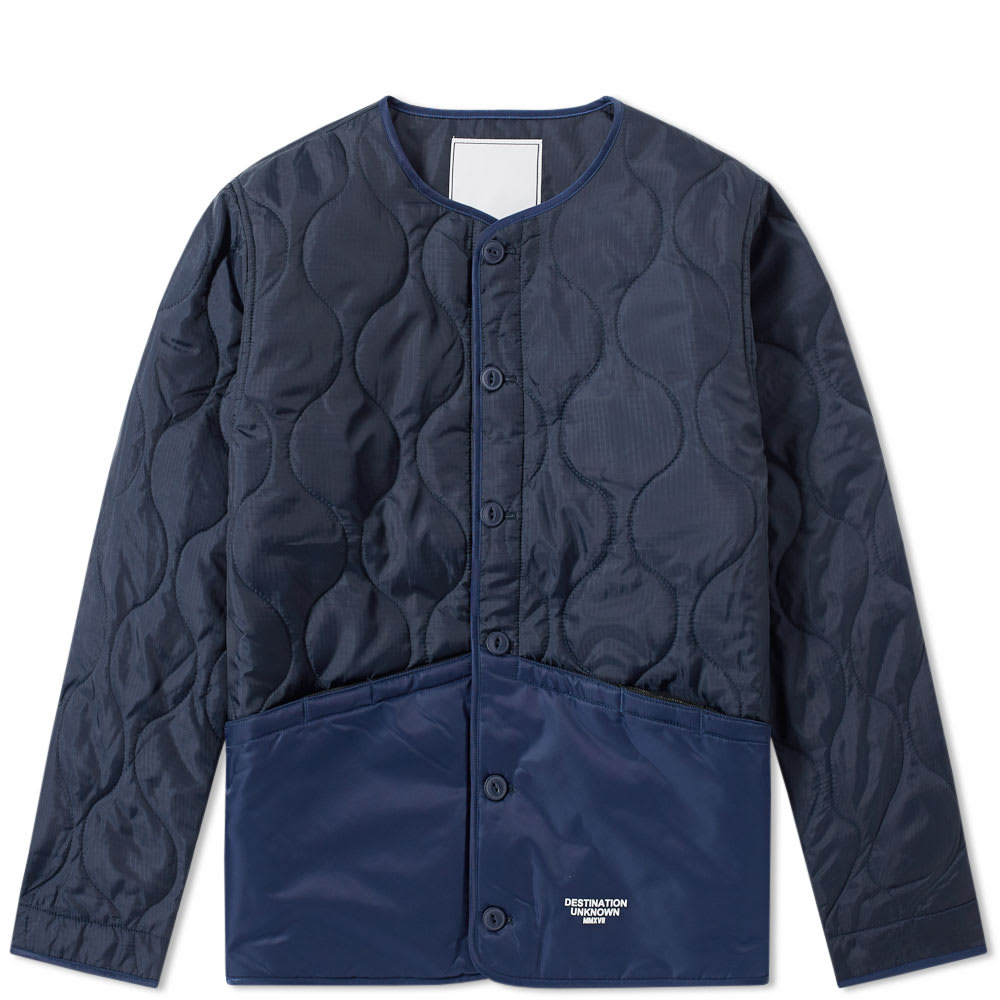 LIBERAIDERS Liberaiders Coup Quilted Liner Jacket in Blue