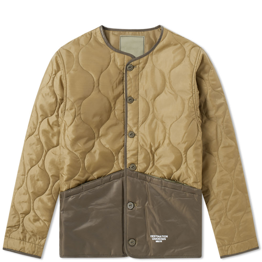 LIBERAIDERS Liberaiders Coup Quilted Liner Jacket in Green