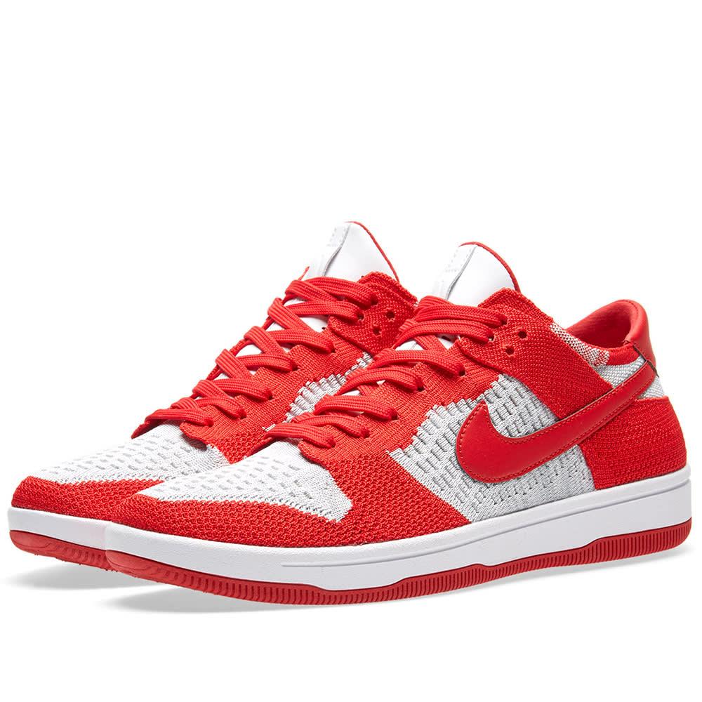 2438bc8e142cf Nike Dunk Flyknit University Red