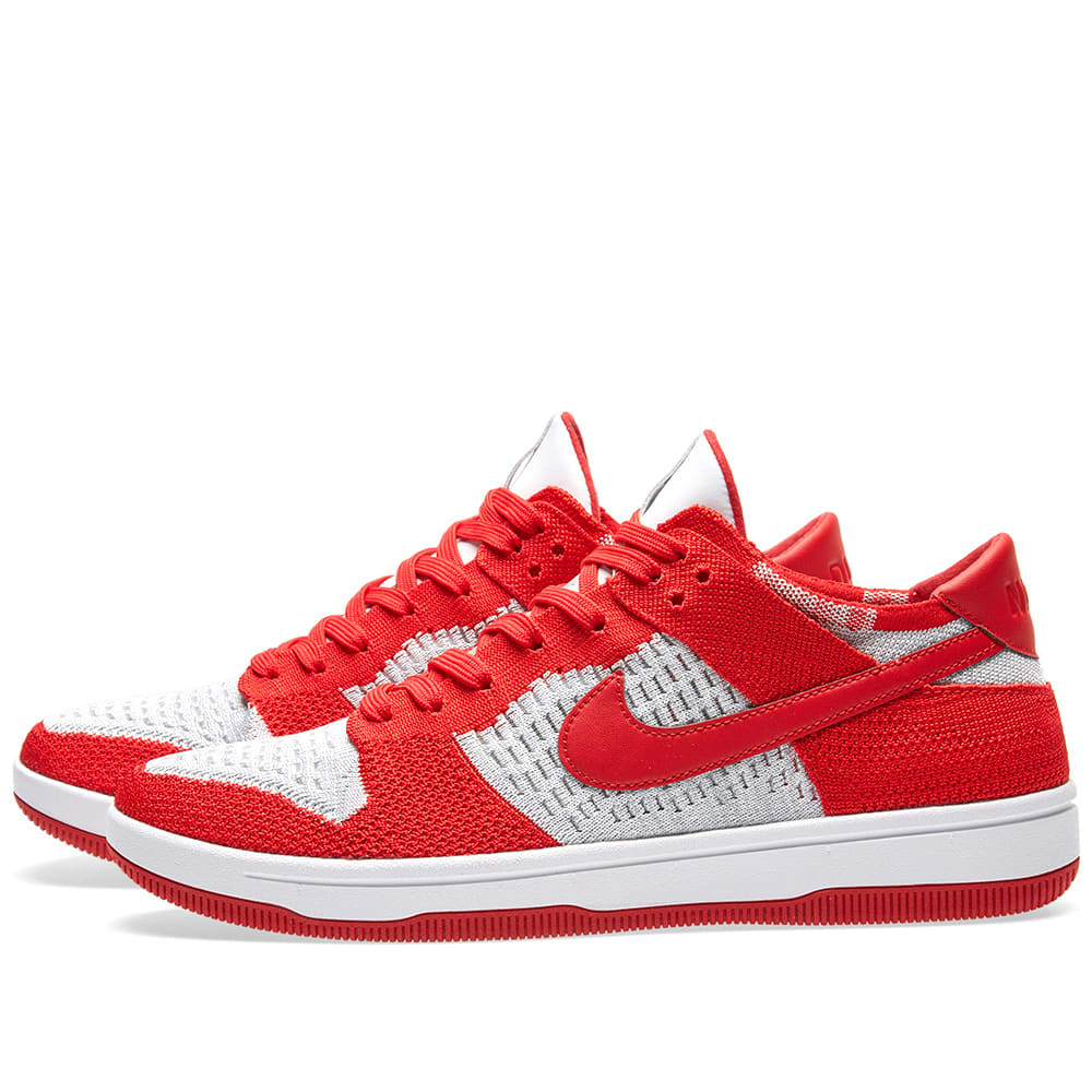 the best attitude fddca b5a48 Nike Dunk Flyknit University Red, White   Grey   END.