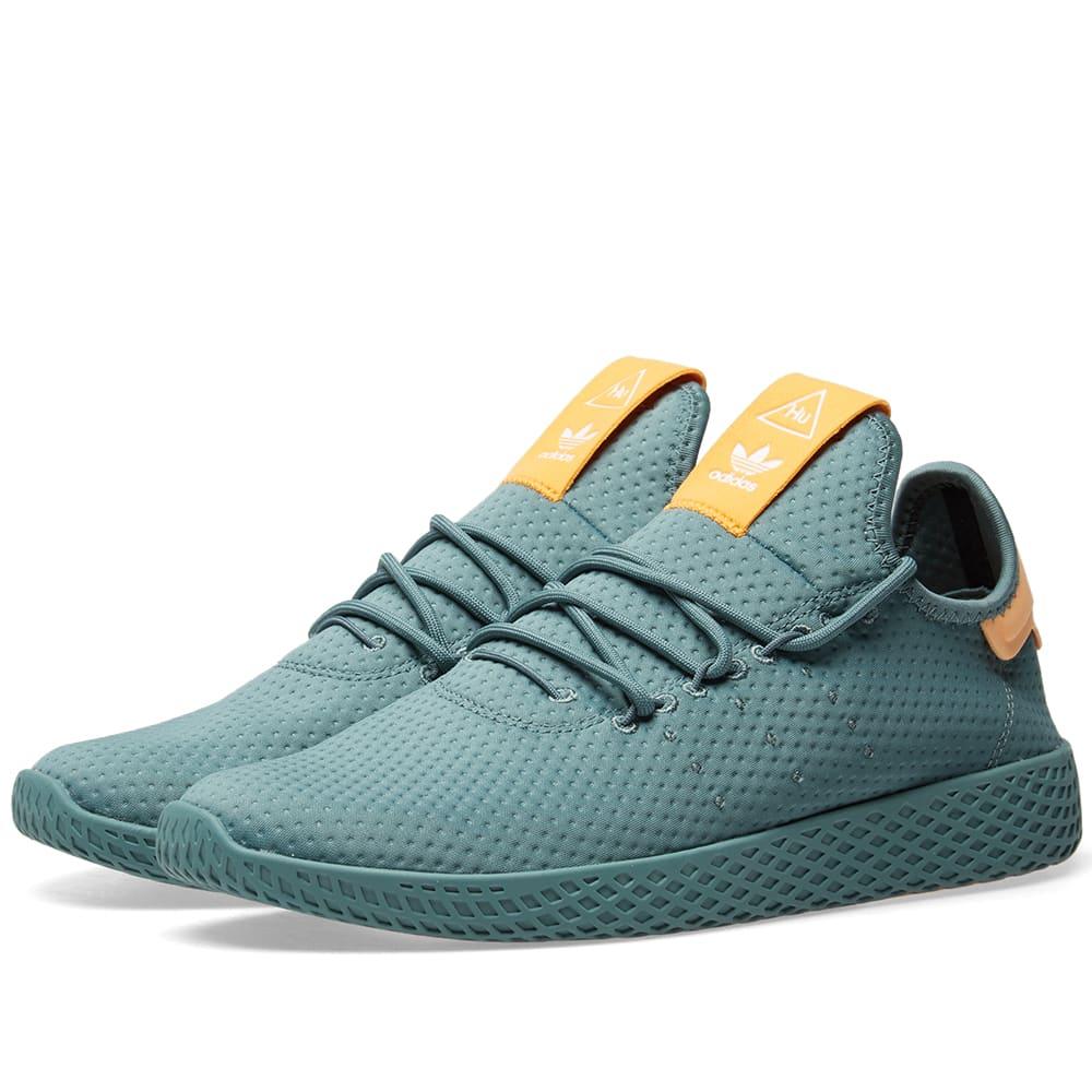 a831354990904 Adidas x Pharrell Williams Tennis HU Raw Green   Off White