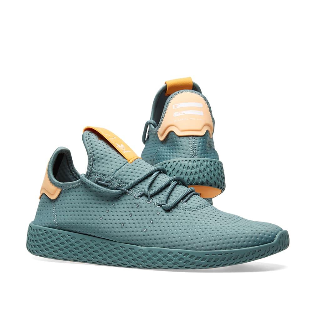 2fa0339f90b16 Adidas x Pharrell Williams Tennis HU Raw Green   Off White