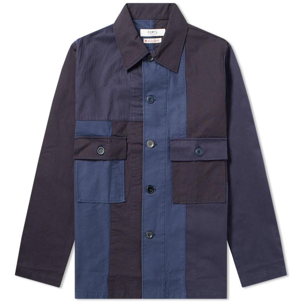 FDMTL Fdmtl Patchwork Shirt Jacket in Blue