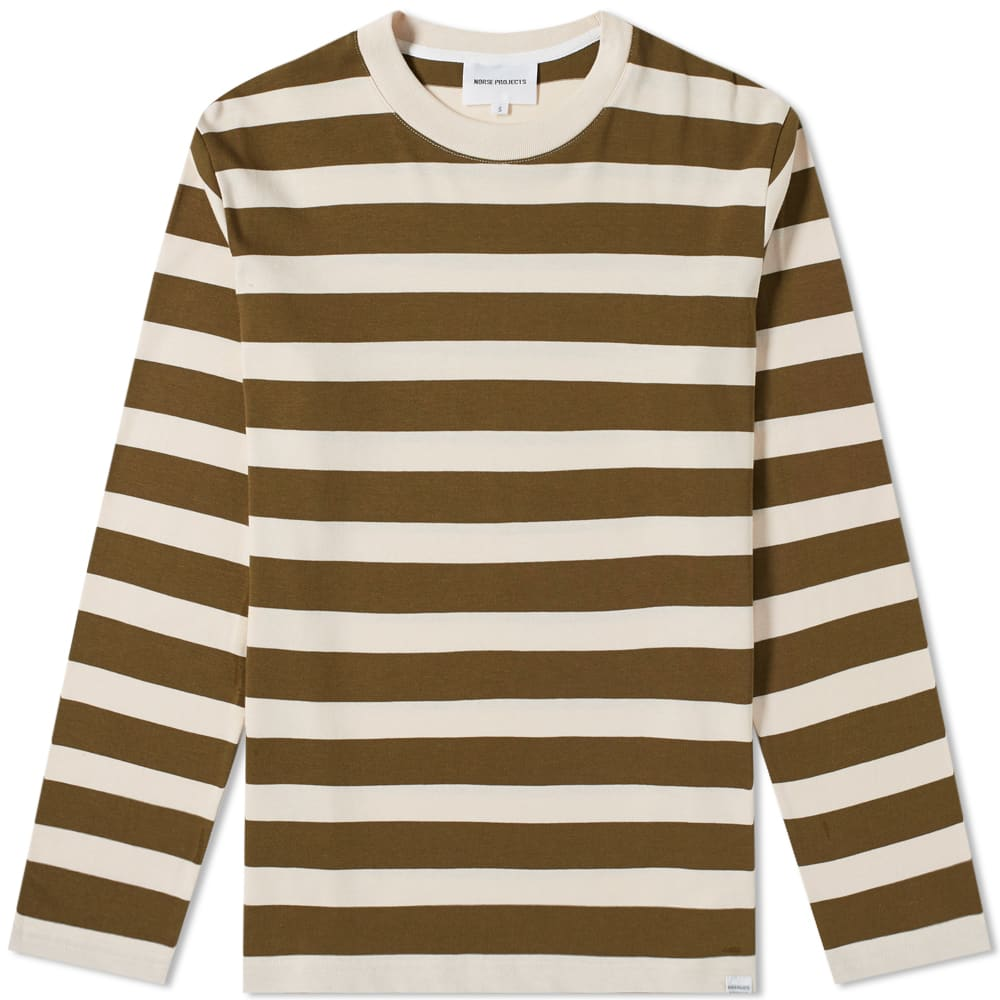 2a82ffbebf Norse Projects Long Sleeve Johannes Rugby Stripe Tee Sitka Green | END.