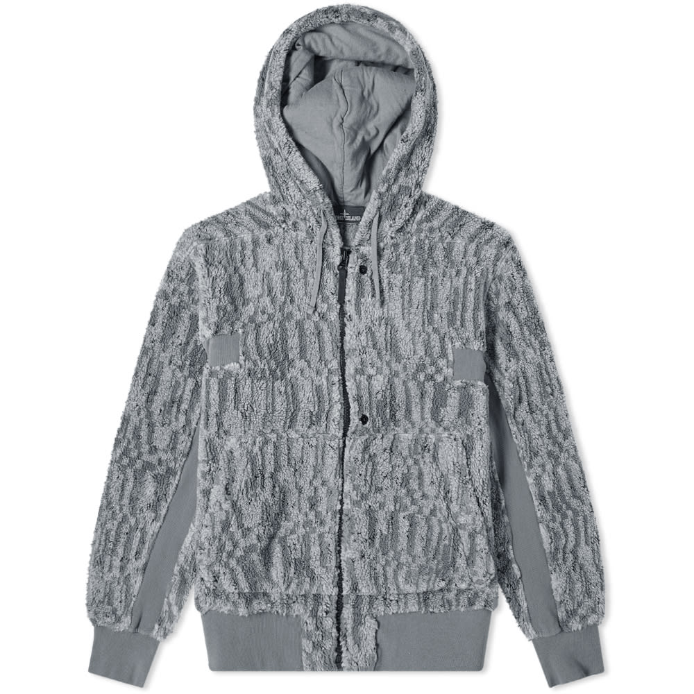 Stone Island Shadow Project Jacquard Teddy Zip Hoody