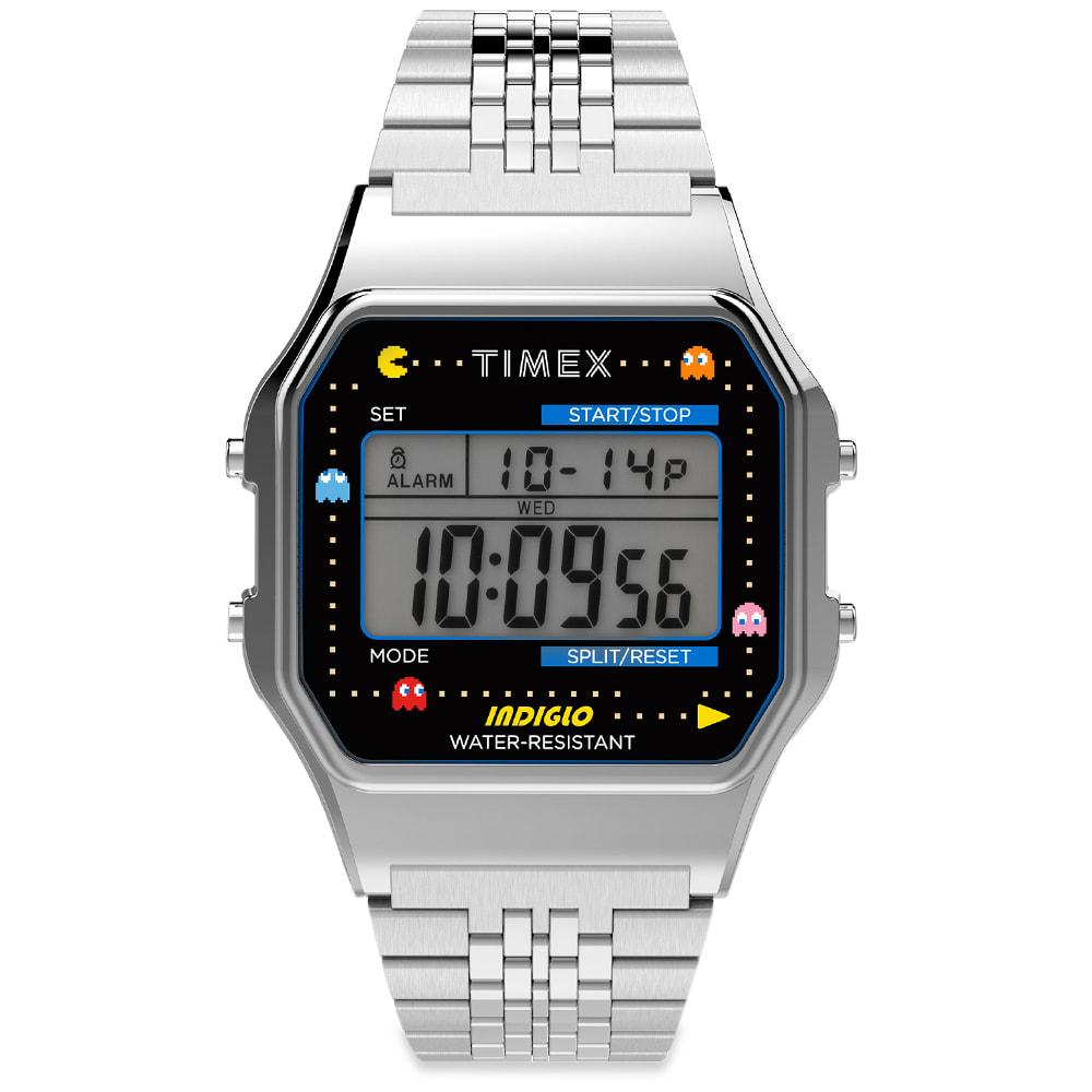 Timex Archive X Pacman  80 Digital Watch In Silver