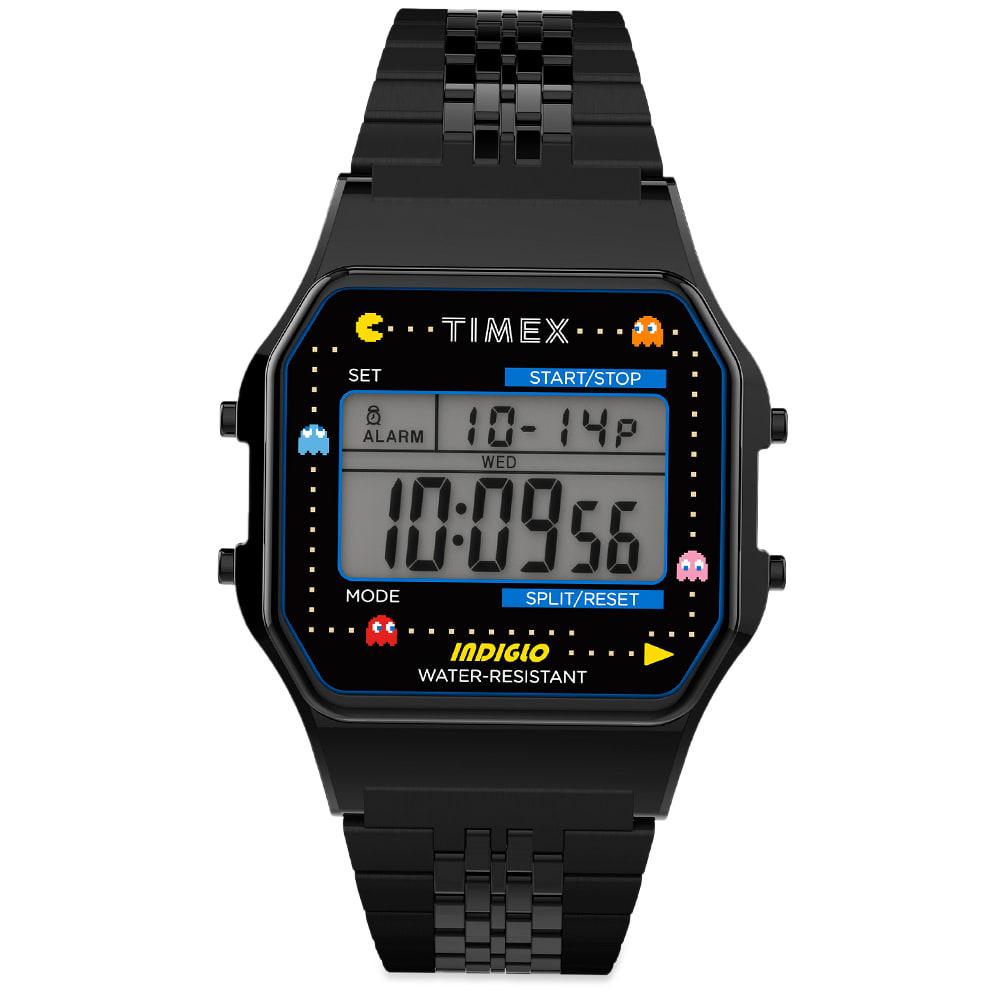 Timex Archive X Pacman  80 Digital Watch In Black