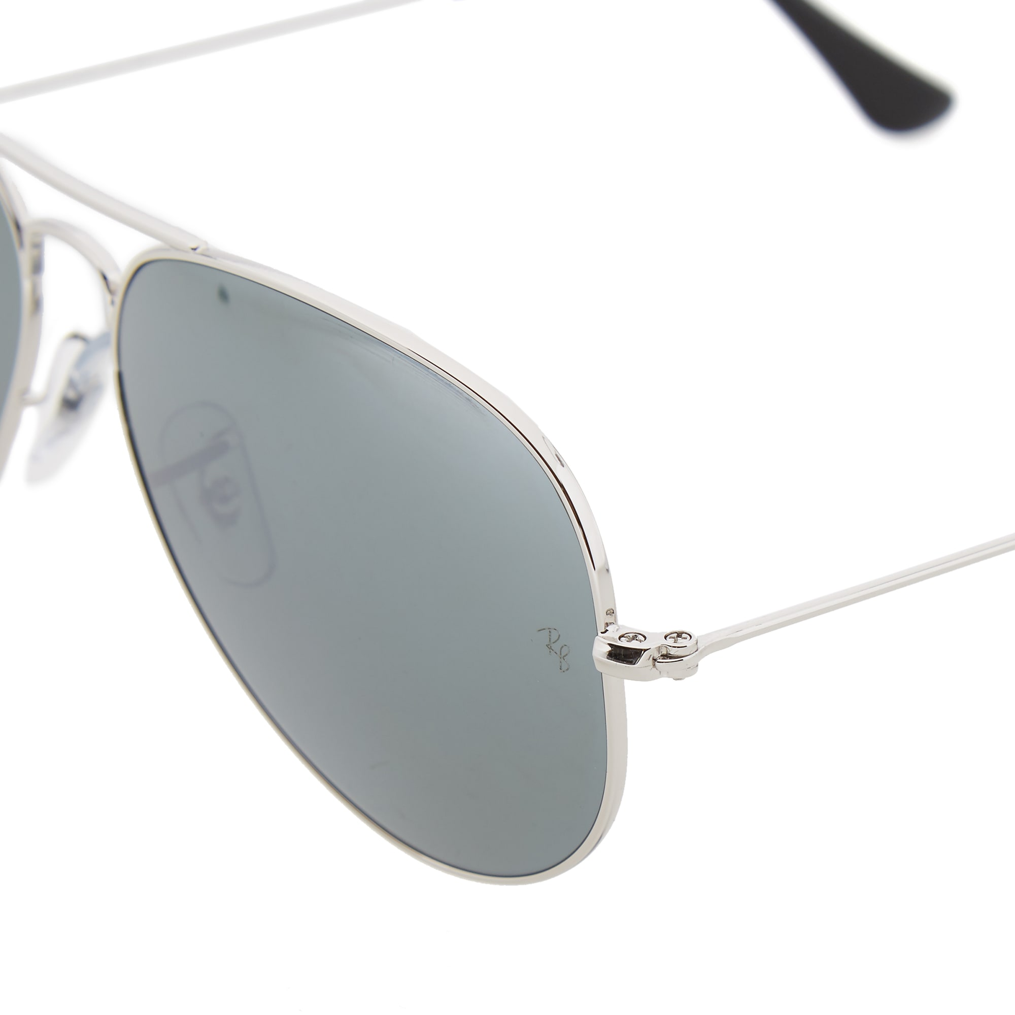 4b00b6d8277 Ray Ban Aviator Sunglasses Silver Crystal Mirror Silver