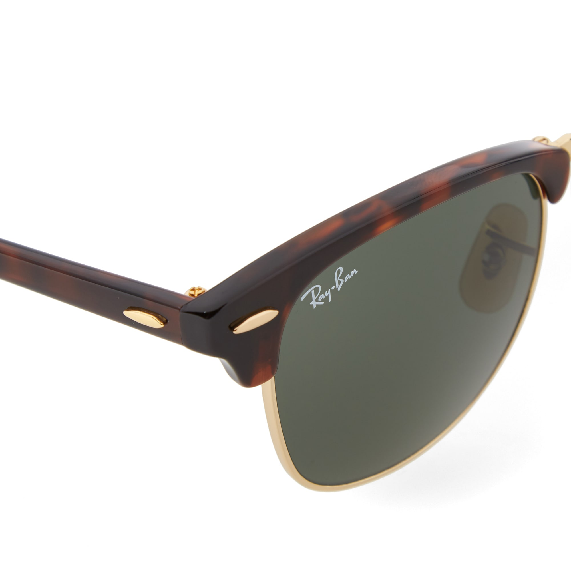 Ray Ban Glasses Frames Ireland : Ray Ban Clubmaster Folding Sunglasses (Red Havana & Green)