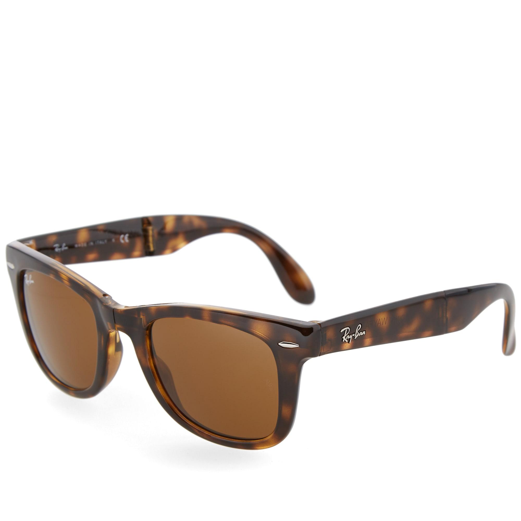 4693a696a6 Ray Ban Wayfarer Folding Sunglasses Light Havana   Brown