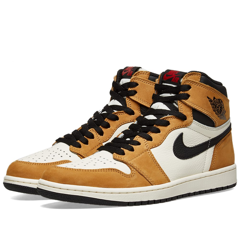best value 9a6c8 94c65 Air Jordan 1 Retro High OG  Rookie of the Year  Golden Harvest, Black    Sail   END.