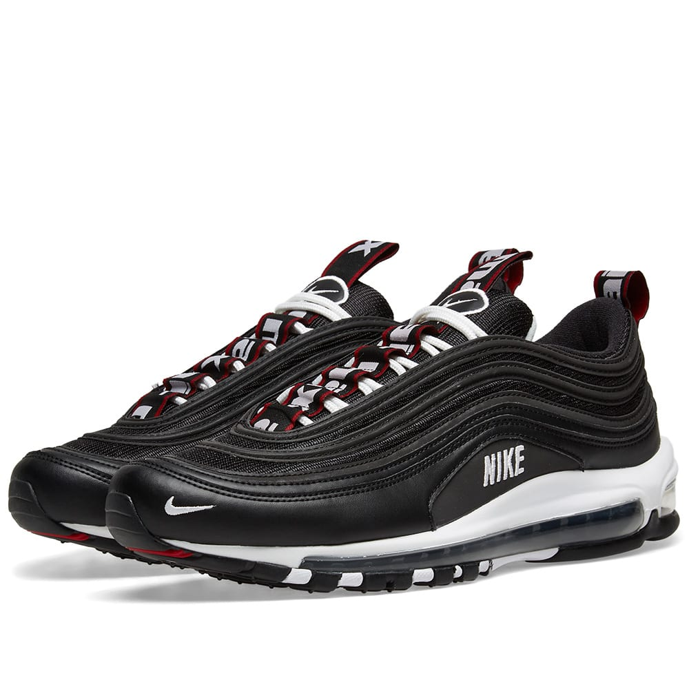 Nike Air Max 97 Premium Black, White & Varsity Red | END.