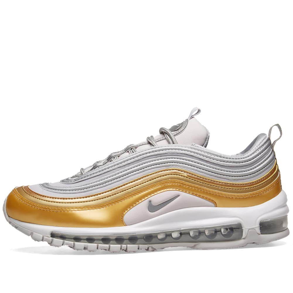 Nike air max 97 Se Special Edition Women's Sneaker Silver Gold AQ4137 001 Shoes