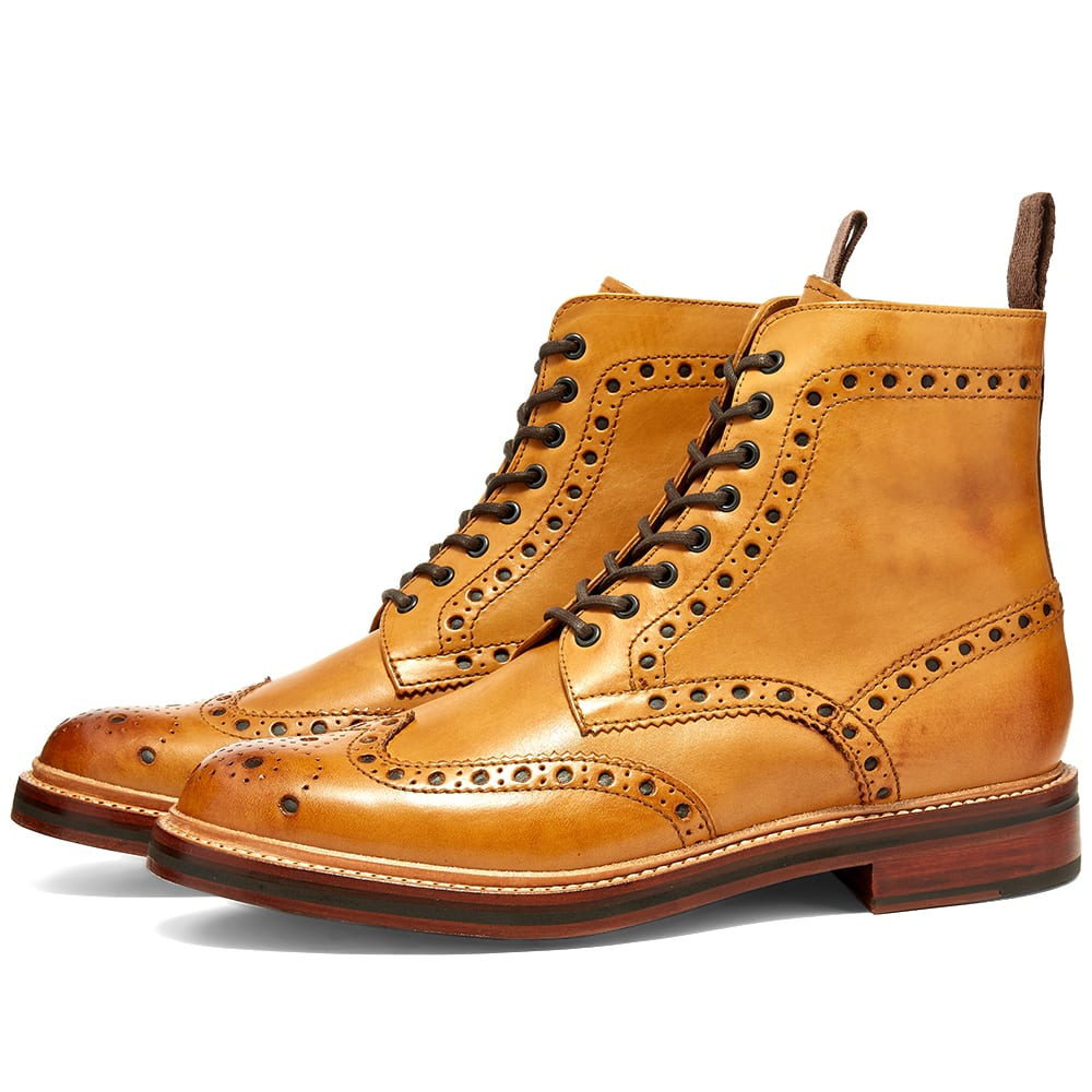 Grenson Fred Brogue Boot Tan | END.