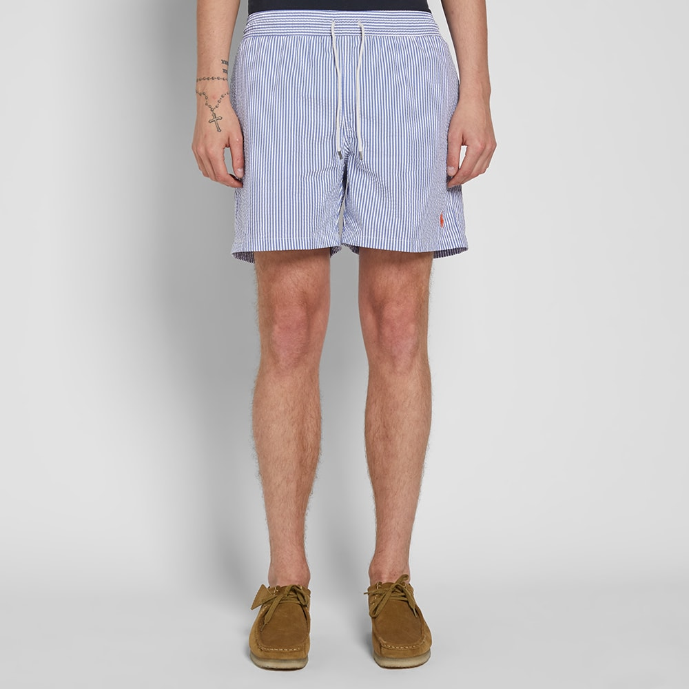Lauren Swim Polo Ralph Traveller Short Seersucker QdrCthxs