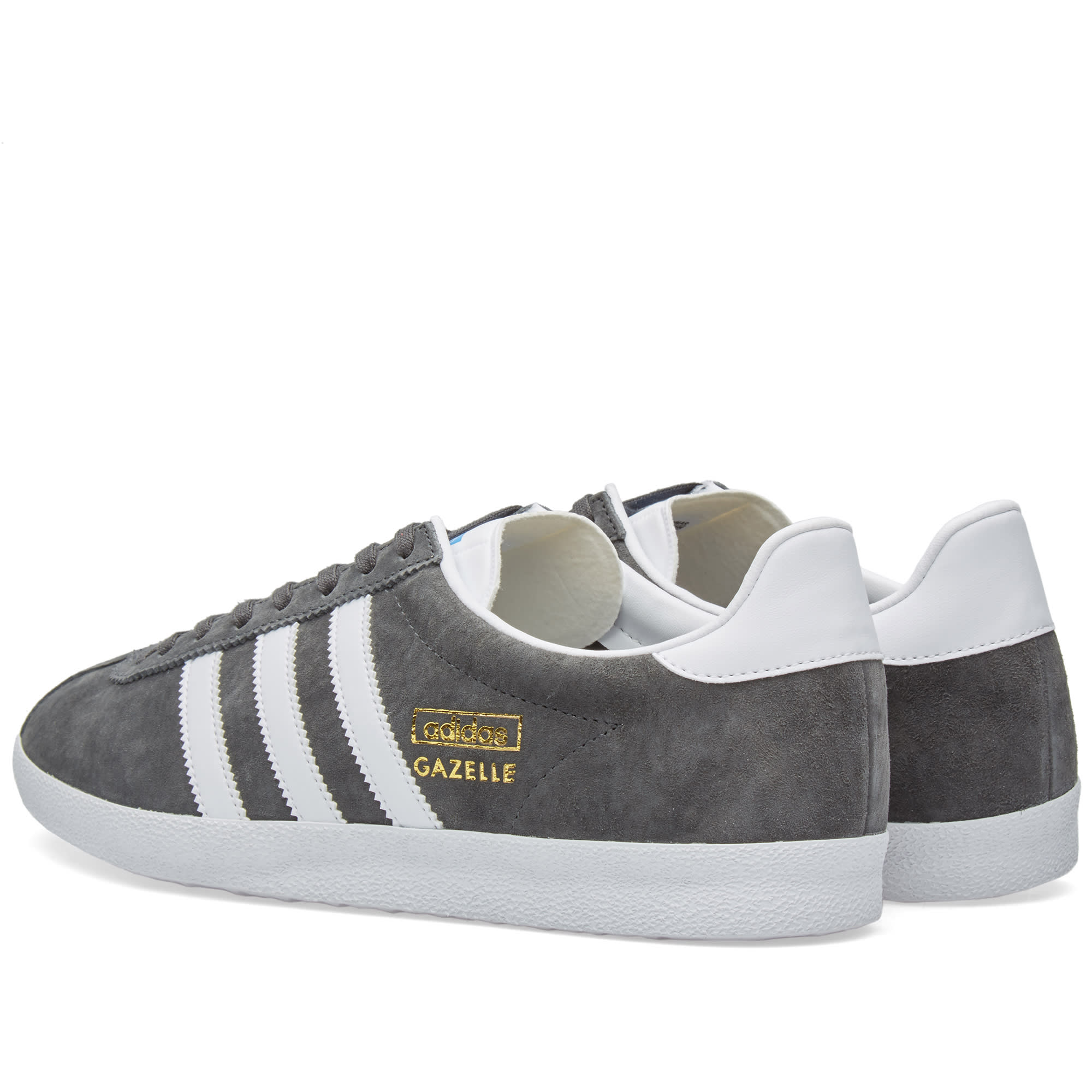 carrera miembro sátira  Adidas Gazelle OG Solid Grey, White & Dark Grey | END.