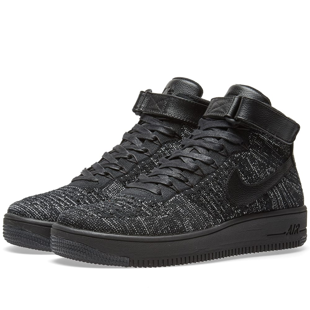 nike w air force 1 flyknit black white. Black Bedroom Furniture Sets. Home Design Ideas