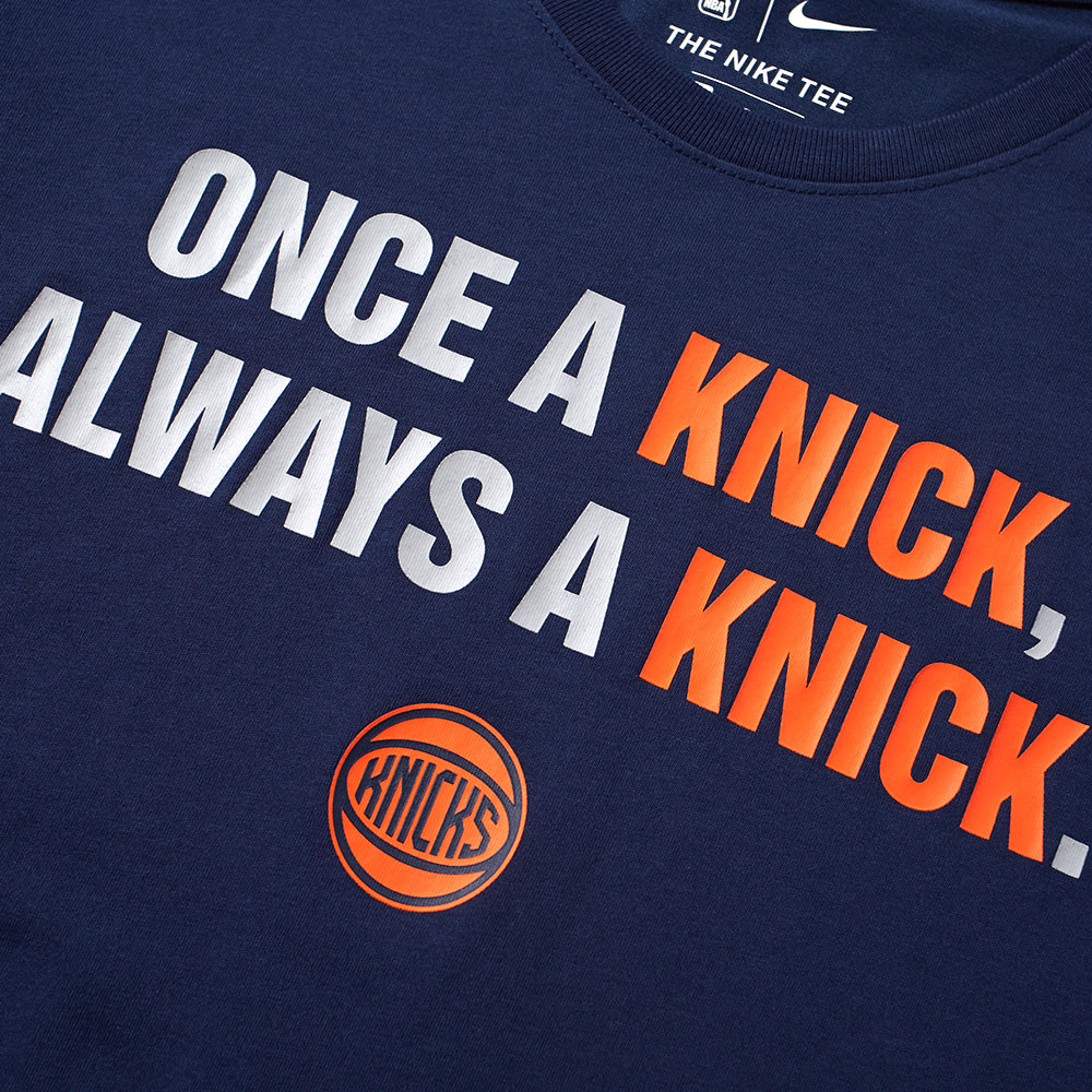 4251ebc13 Nike New York Knicks City Edition Tee College Navy | END.