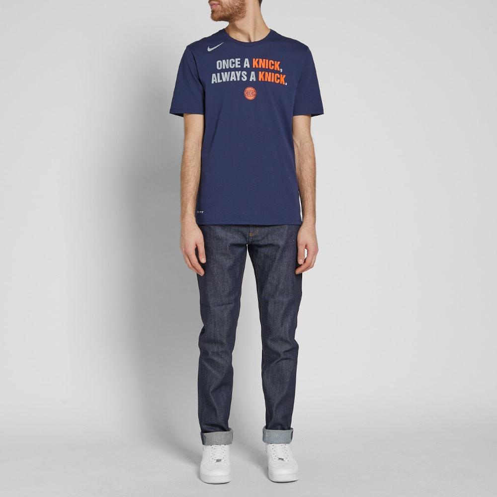 411e73f7cef Nike New York Knicks City Edition Tee College Navy