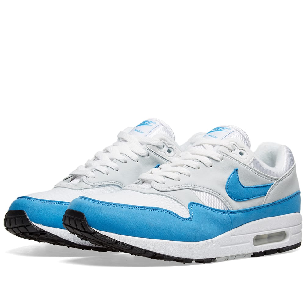 new styles 875c4 35c4d Nike Air Max 1 OG W White   Blue   END.
