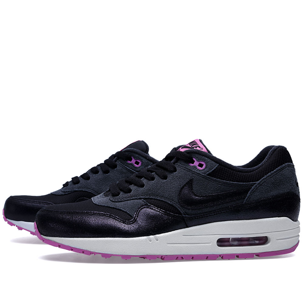 Nike Air Max 1 Essential Anthracite Black & Red Violet