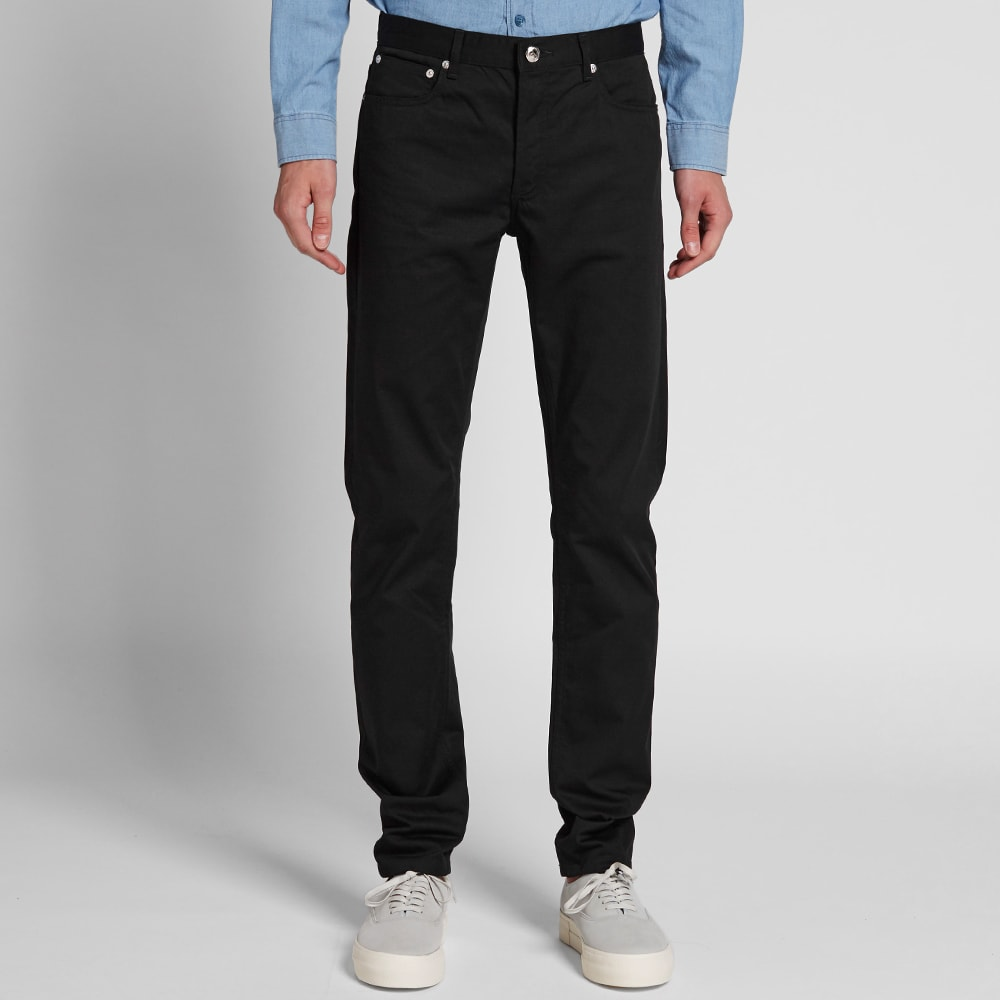 a p c petit new standard jean black gabardine. Black Bedroom Furniture Sets. Home Design Ideas