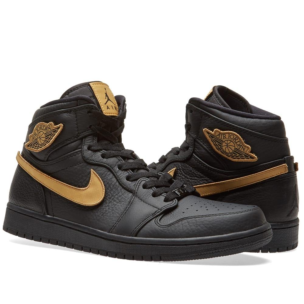 46577c28e60baf Nike Air Jordan 1 Retro High  Black History Month  Black   Metallic Gold