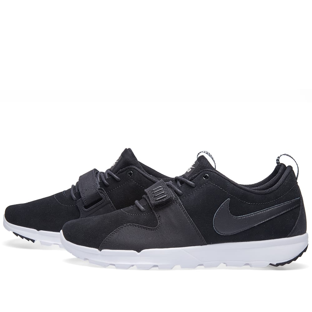 new style 615d5 a5552 Nike SB Trainerendor Leather Black   White   END.