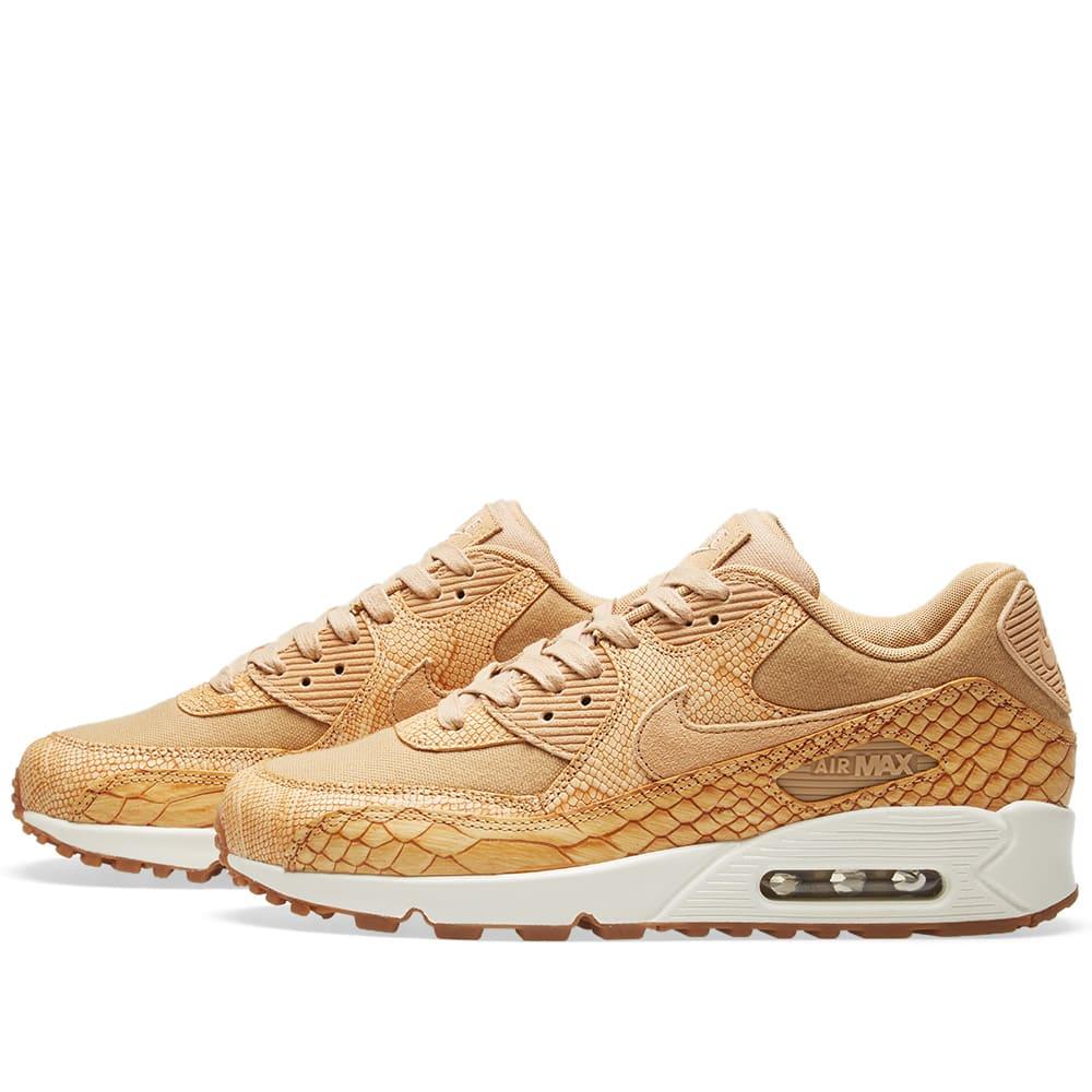 meet fc293 fc733 Nike Air Max 90 Premium Leather Vachetta Tan   Gold   END.