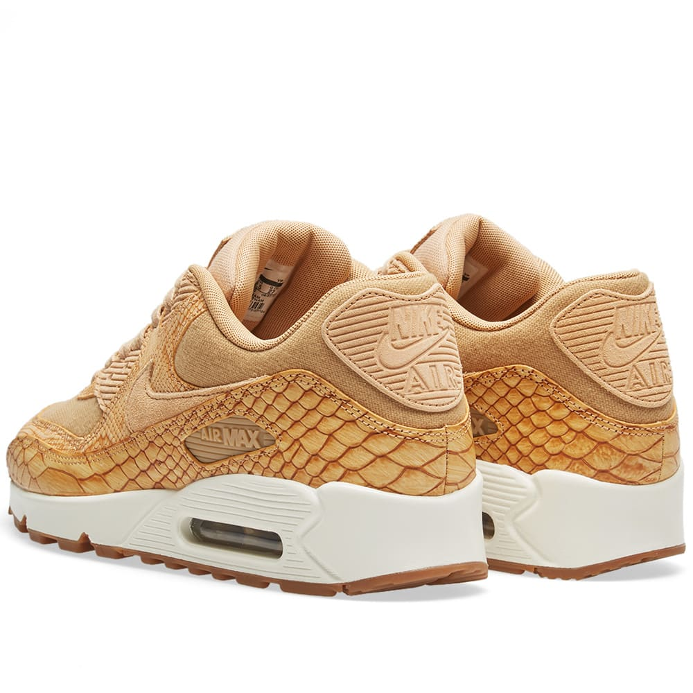 meet b8005 42619 Nike Air Max 90 Premium Leather Vachetta Tan   Gold   END.