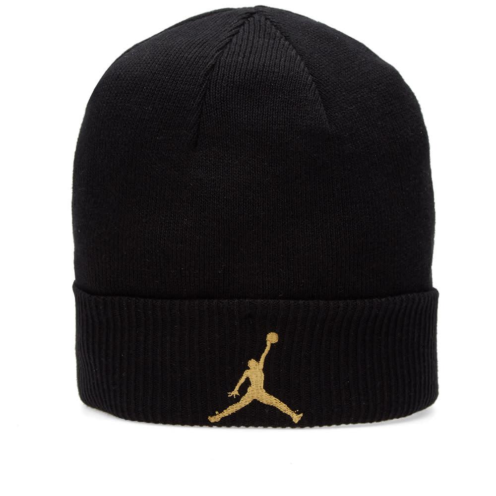 release date 46ce3 4b8de Nike Air Jordan x OVO Cuff Beanie Black   Metallic Gold   END.