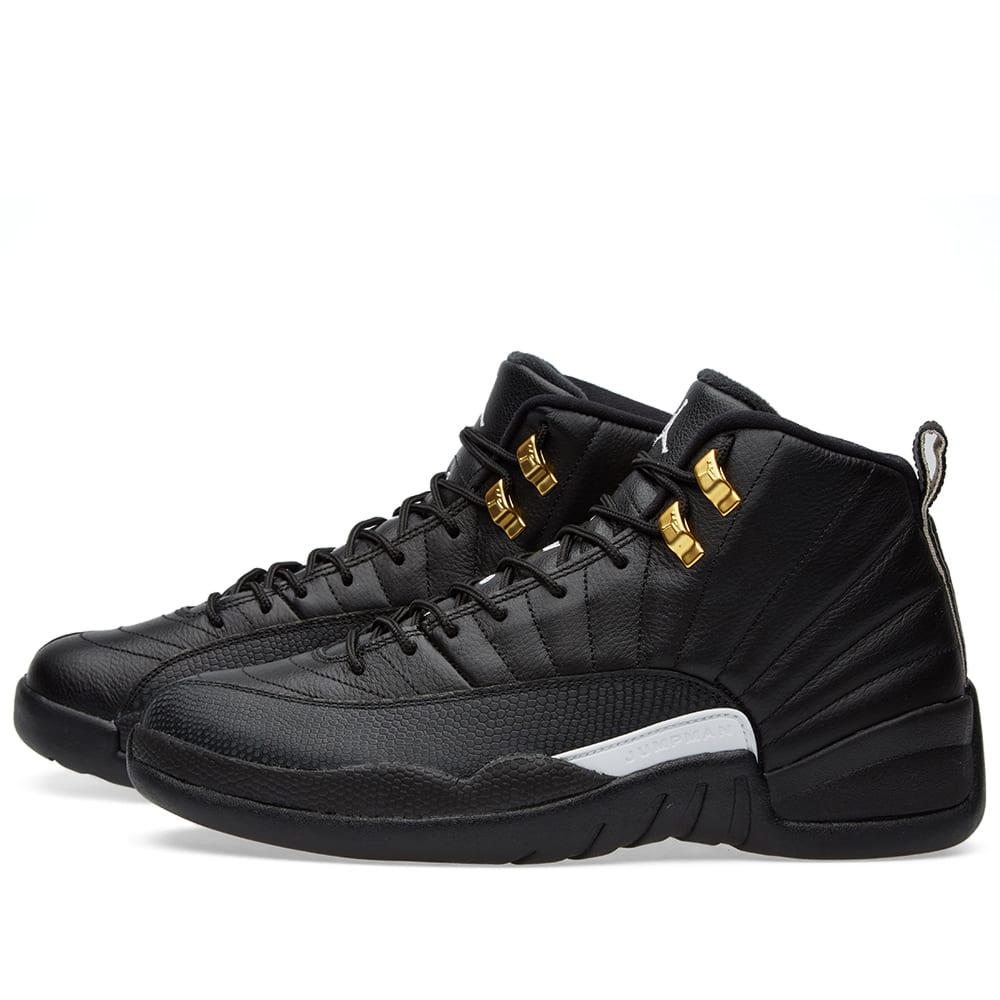 best loved e82b7 29a61 Nike Air Jordan 12 Retro  The Master  Black, White   Metallic Gold   END.