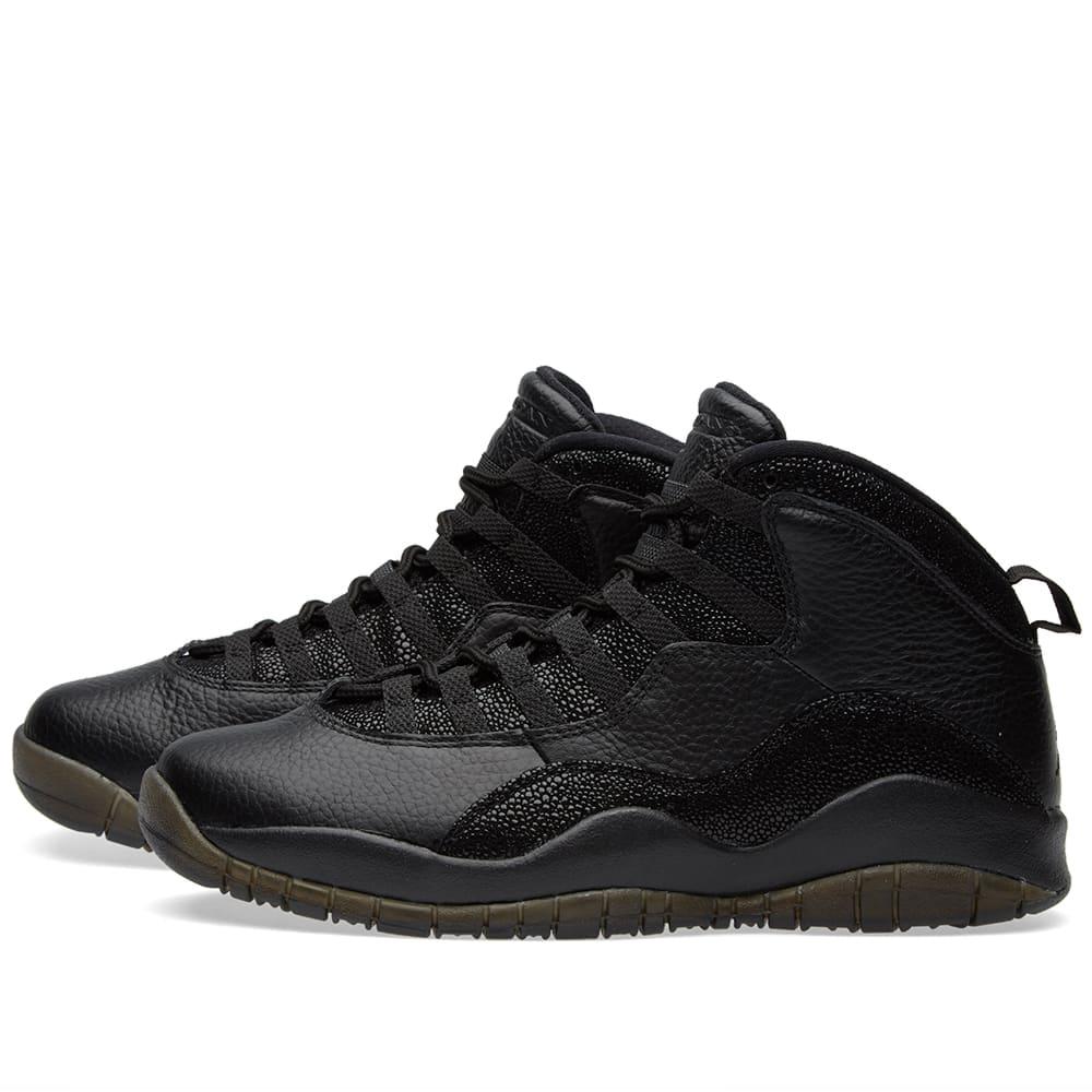 new style 7af3f 0779b Nike Air Jordan 10 Retro x OVO Black   Metallic Gold   END.