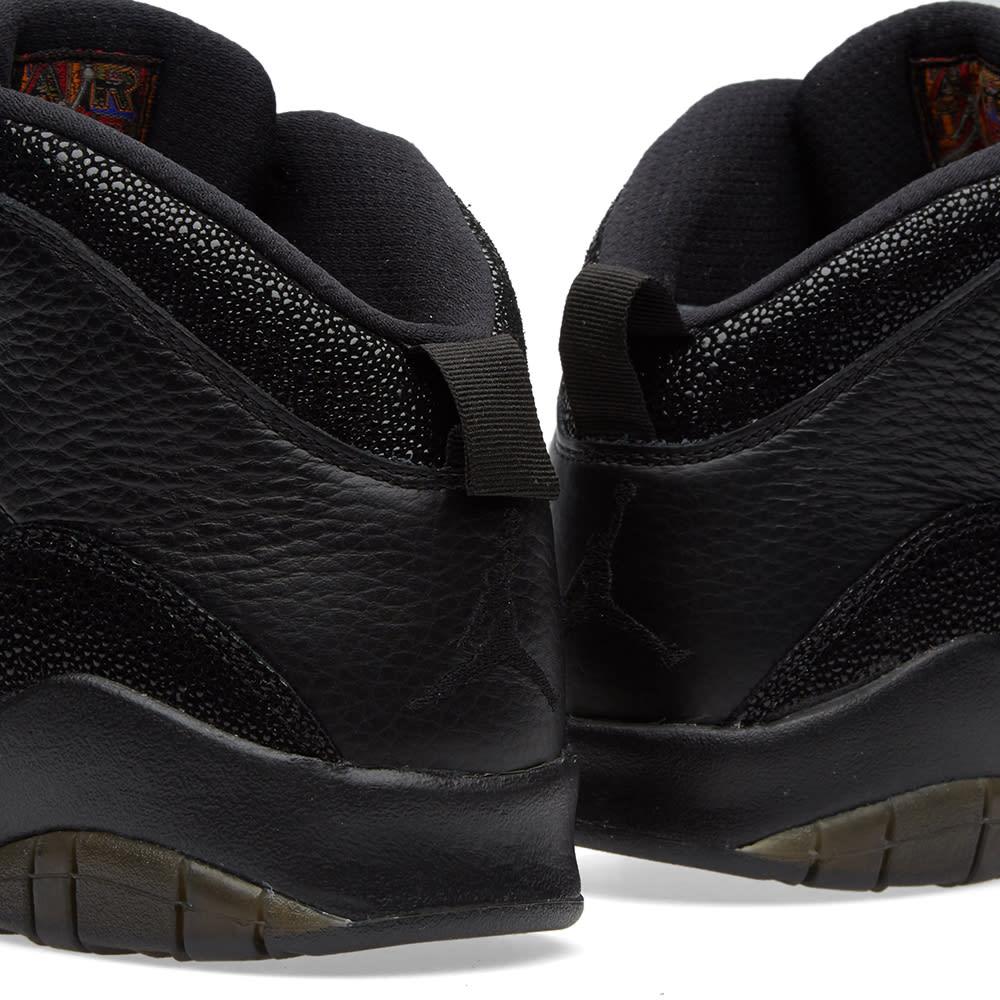3eb59aa5998437 Nike Air Jordan 10 Retro x OVO Black   Metallic Gold