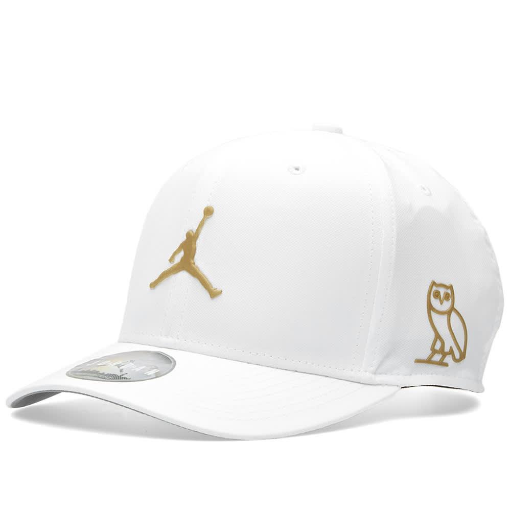 a9756260790c0 Nike Air Jordan x OVO Classic 99 Cap White   Metallic Gold