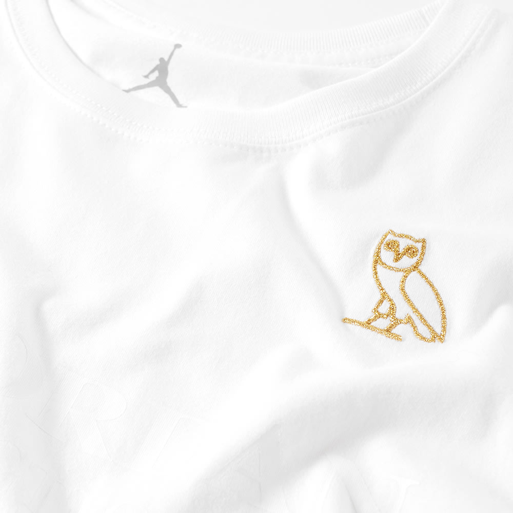 e824812c46f065 Nike Air Jordan x OVO Tee White   Metallic Gold