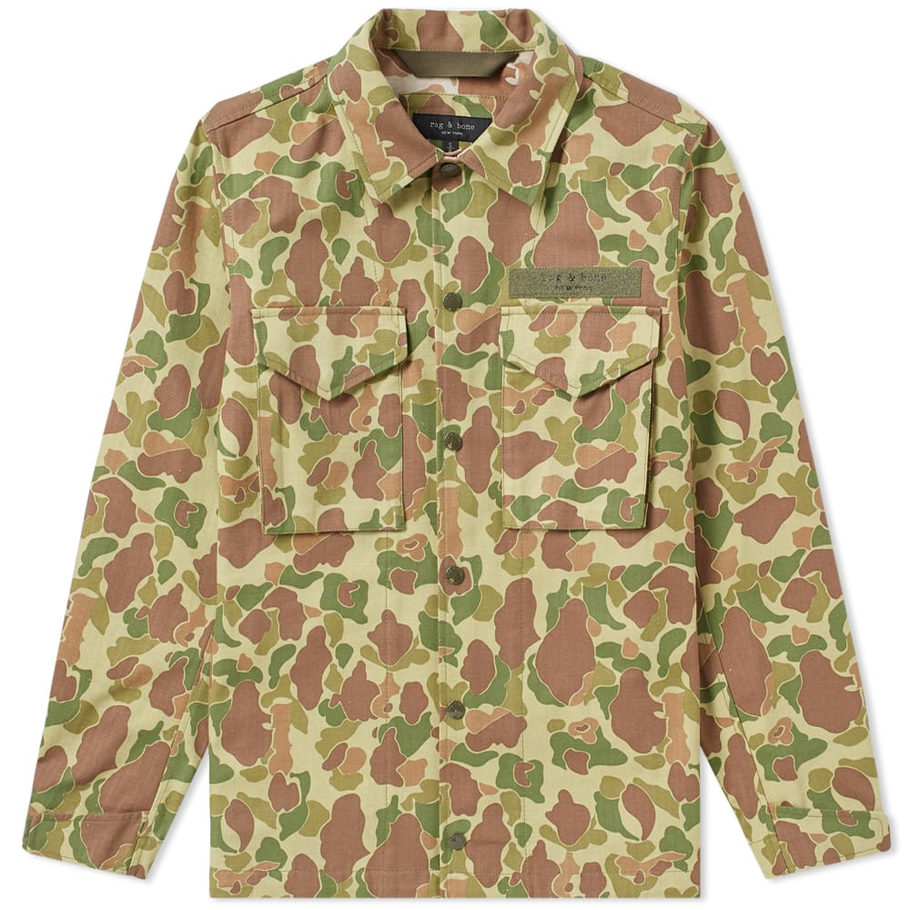eceff90f Rag & Bone Camouflage-Print Cotton-Canvas Shirt Jacket - Green In 990 Camo