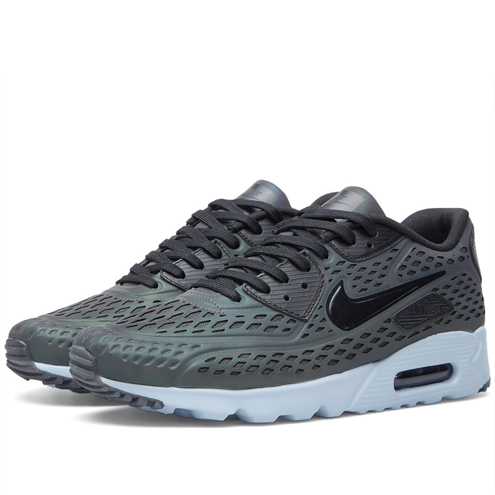 sneakers for cheap 31be1 ddb50 Nike Air Max 90 Ultra Moire  Iridescent  Deep Pewter   Black   END.