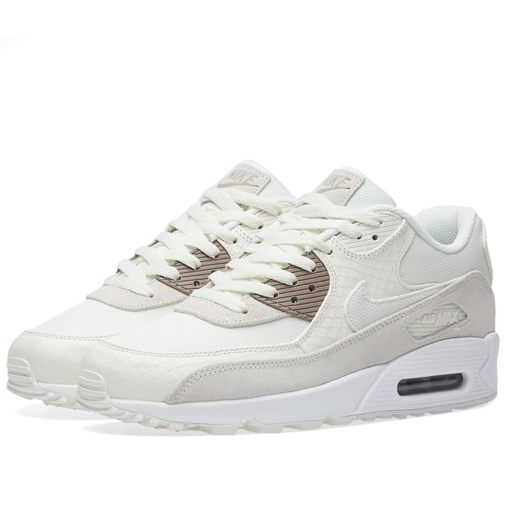 info for d0841 5b32d Nike Air Max 90 Premium Sail, Sepia Stone   White   END.