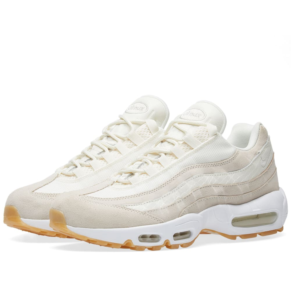 Nike Air Max 95 Premium Sail, Desert Sand & White | END.