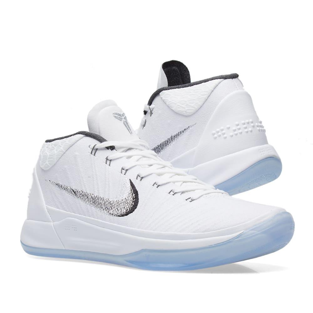 sports shoes 3d555 7d6a8 Nike Kobe AD. White, Metallic Silver ...
