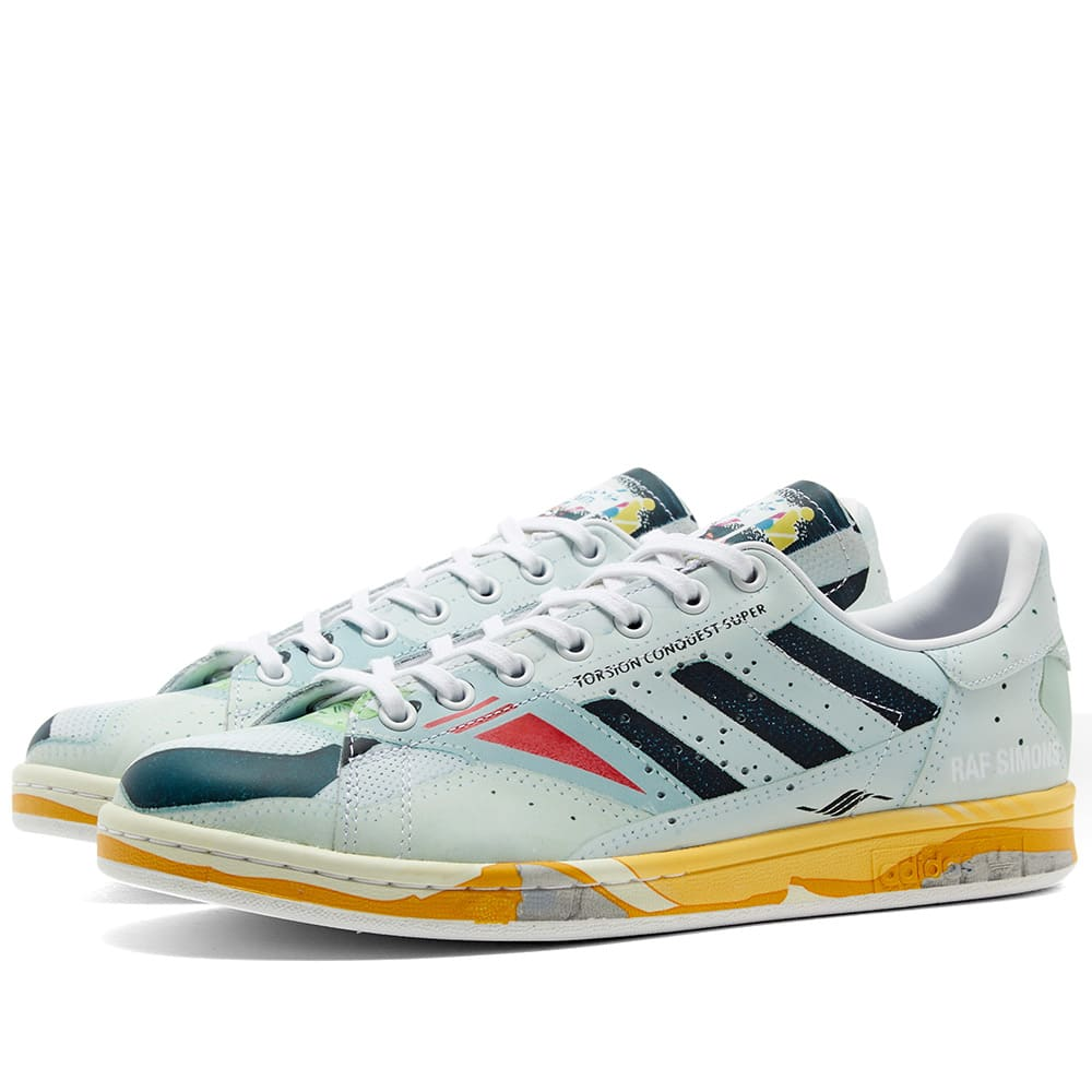 info for f5ede c1404 Adidas x Raf Simons Torsion Stan White, Core Black   Grey   END.