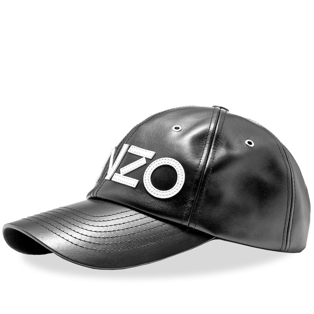 5c9ee894a85 Kenzo Leather Logo Cap Black