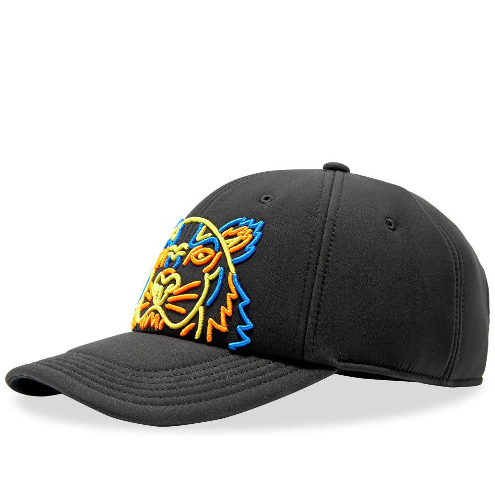 df303b14c8 Kenzo Neon Neoprene Tiger Cap Black   END.