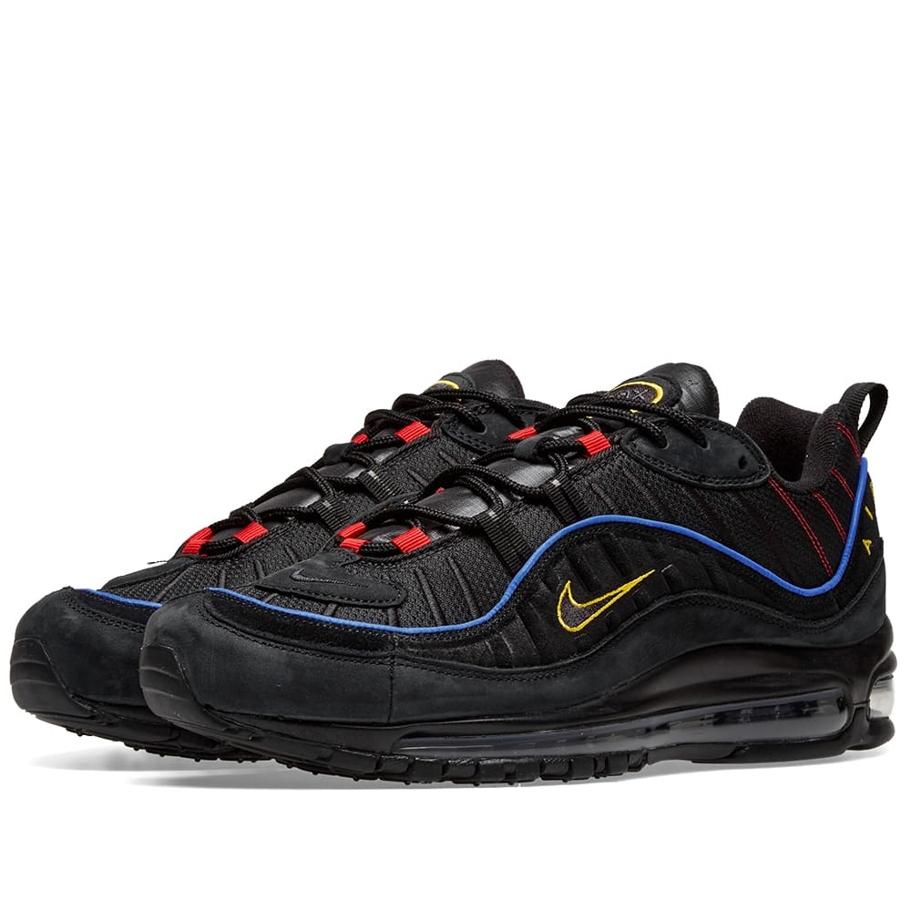 air max 98 black blue yellow red