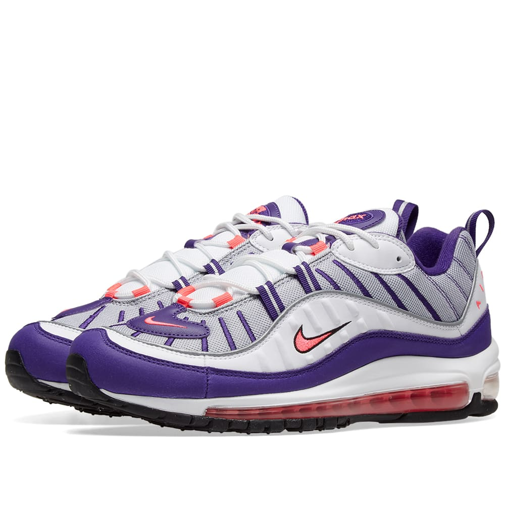 buy online d6f10 945b6 Nike Air Max 98 W White, Pink, Silver   Black   END.