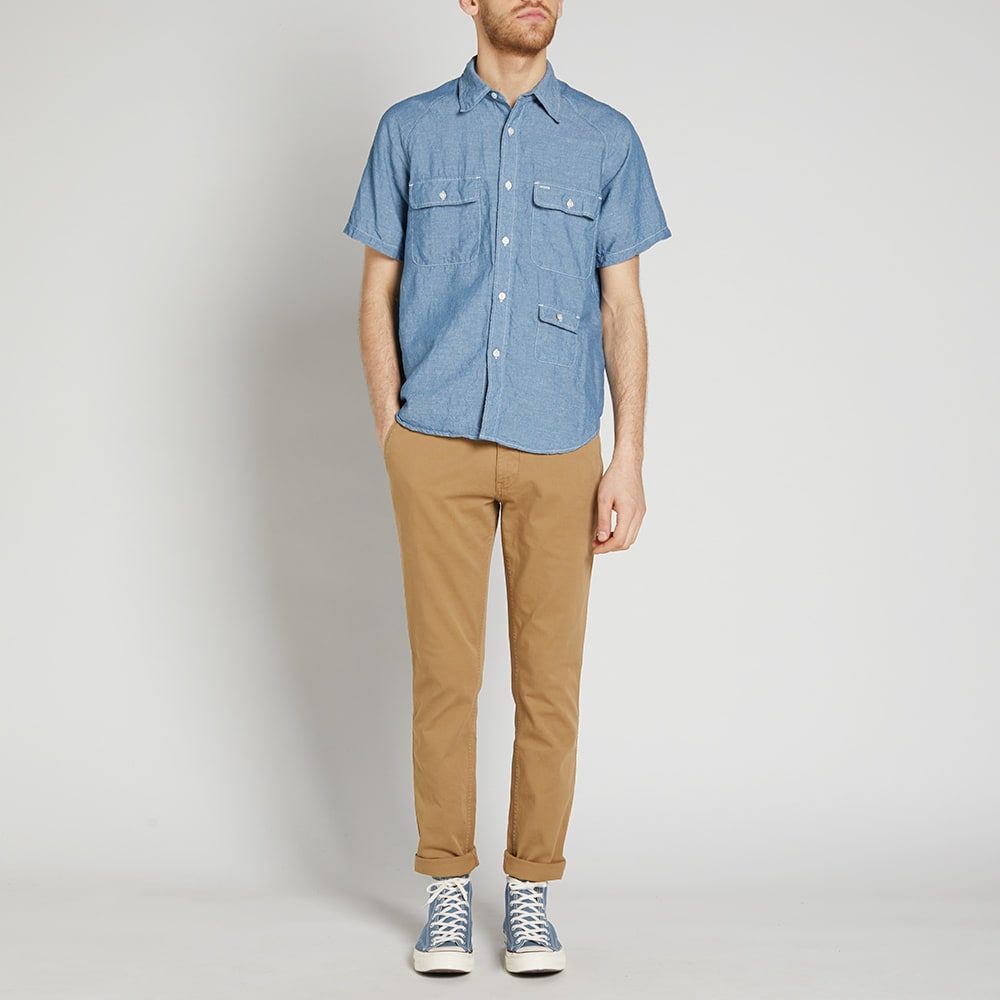 a3dbe7c8b518 Battenwear Short Sleeve Camp Shirt Light Indigo | END.