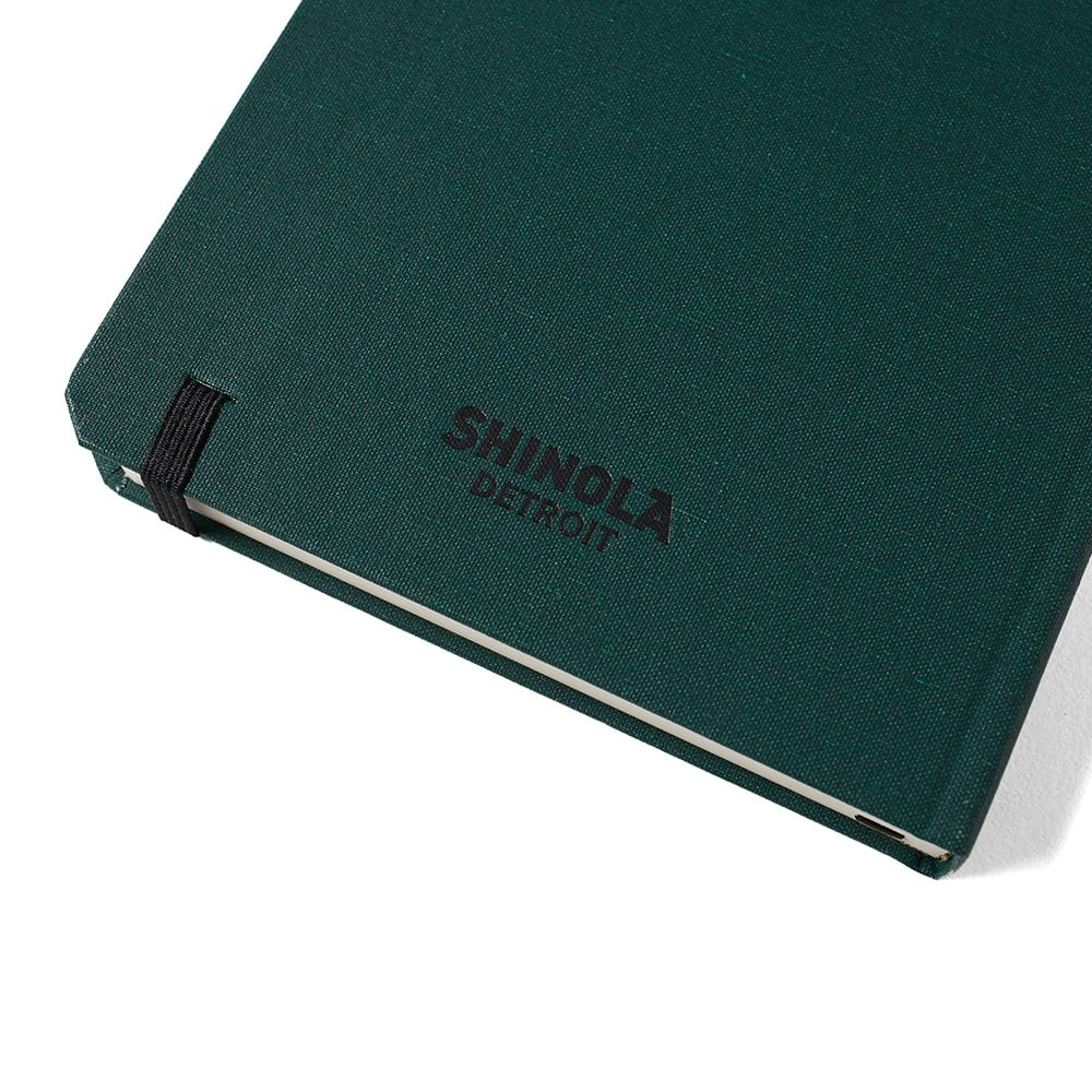 Shinola Medium Lined Journal Forest Pine Hard Linen End