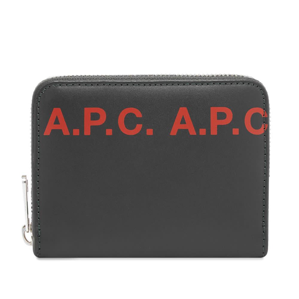 A.P.C. Logo Zip Wallet