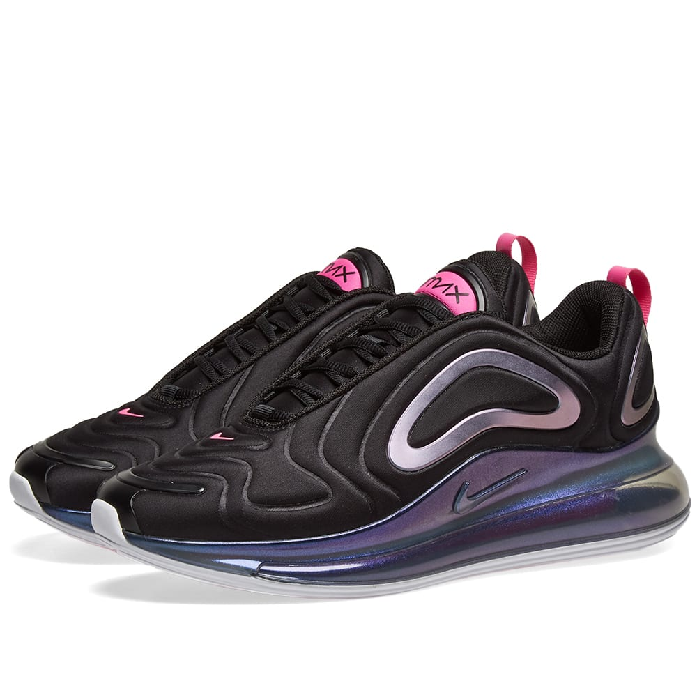 Nike Air Max 720 SE W Black, Laser Fuchsia & White | END.